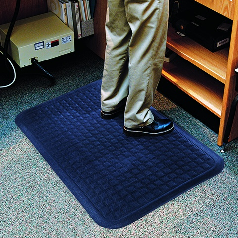 Entrance floor mats help trap dirt and water, and prevent slips and falls.