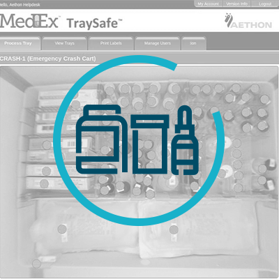 Traysafe scans entire tray and ensures safe configuration