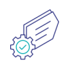 processing and settlement icon