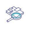 Clipboard and Magnifying Glass icon